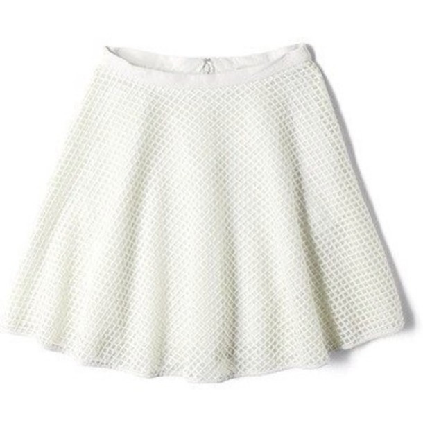 Skirt cute vintage hipster back to school retro women dress white - Wheretoget