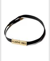 jewels,black,boho choker,positive vibes,metallic