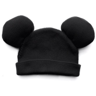 mickey mouse ears beanie hat