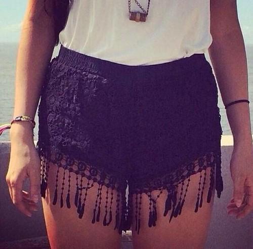 Fringe shorts by feclothing