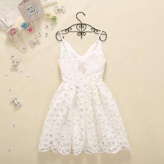 dress lace dress sexy dress clubwear party dress girl streetfashion lovely white dress