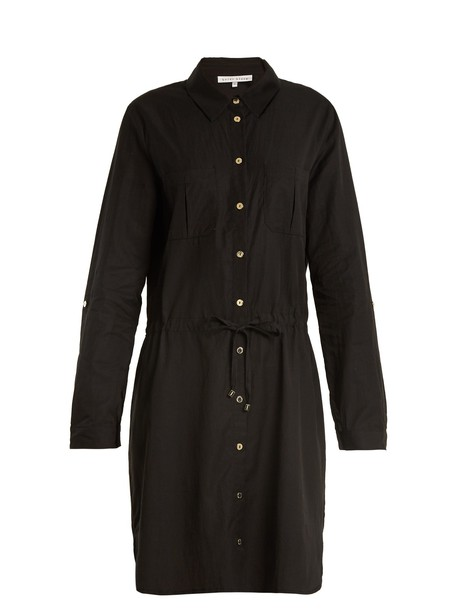 Heidi Klein shirtdress drawstring black dress