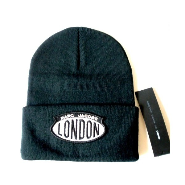 hat london marc marcbymarcjacobs marcjacobs black white beanie
