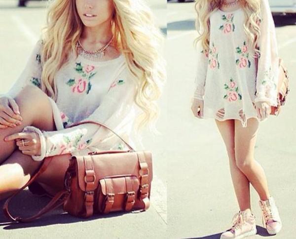 shirt summer floral pink roses