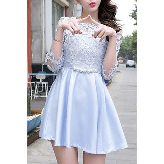 dress fashion summer spring baby blue cute girly trendsgal.com