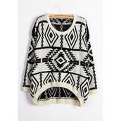 sweater,pull,hiver,noir  et blanc