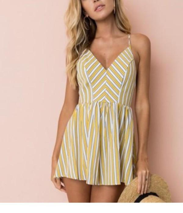 romper girly girl girly wishlist stripes dress summer