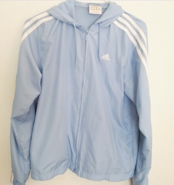 0edea42e4d29 jacket blue light blue pastel adidas nike adidas