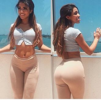 leggings peach n'use nude jeans tighs jeggings blouse