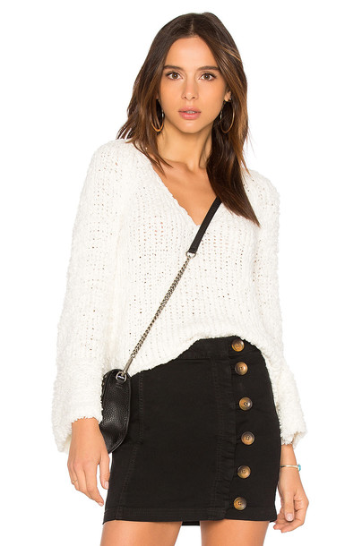 Free People pullover white sweater