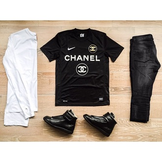 shirt chanel chanel t-shirt jewels