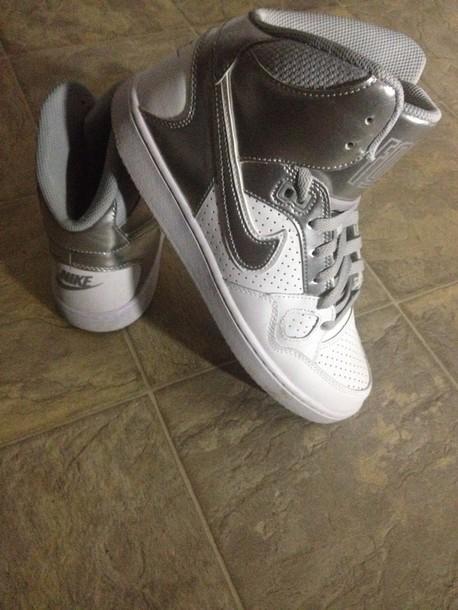 shoes nike sneakers high top sneakers