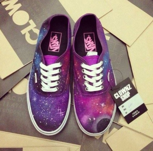 5813fadcc3d shoes vans galaxy print Vans galaxy style sportswear space stars fashion