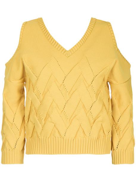 Aula jumper women cold yellow orange sweater