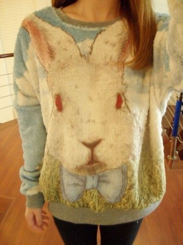sweater bunny pullover easter