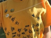 shirt,yellow,help save bees,t-shirt,yellow top,bee,aesthetic,art hoe