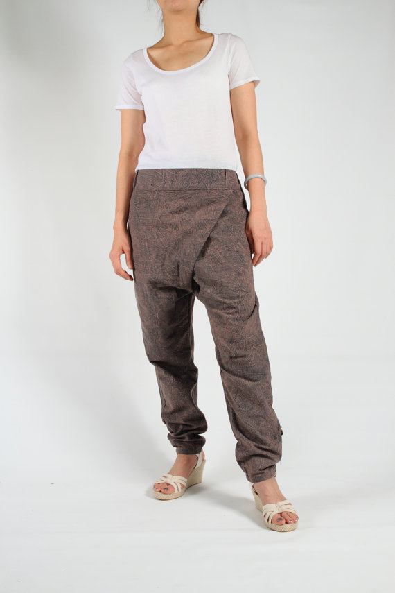 Harem pants unique design stone wash cotton by smileclothing