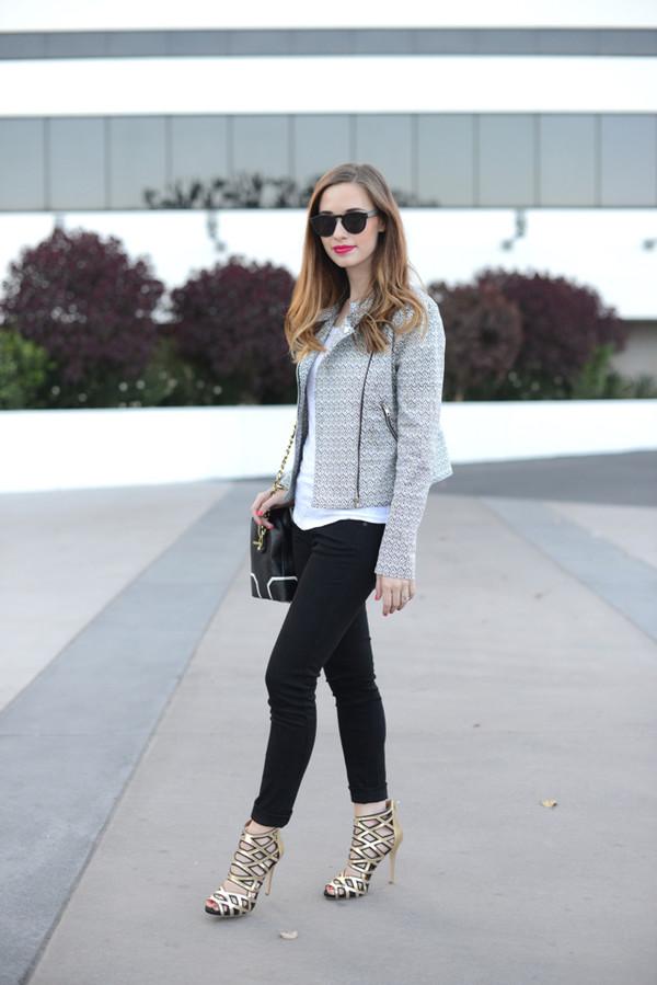 m loves m jacket top jeans shoes sunglasses bag