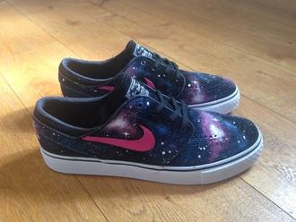 shoes nike galaxy print nike shoes