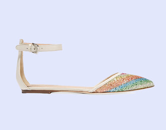 shoes flats pointed flats glitter glitter shoes j crew