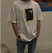 t-shirt,shirt,whiteshirt,designer,painting,yellowoutline,menswear,mens t-shirt,streetstyle,streetwear,street