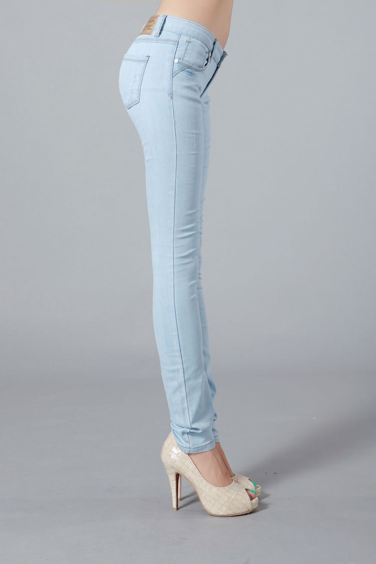 Taobao Denim trousers Slim female Korean tidal stretch jeans denim trousers were thin pencil pants female feet lightwsrvtoskkli from English Agent:BuyChina.com