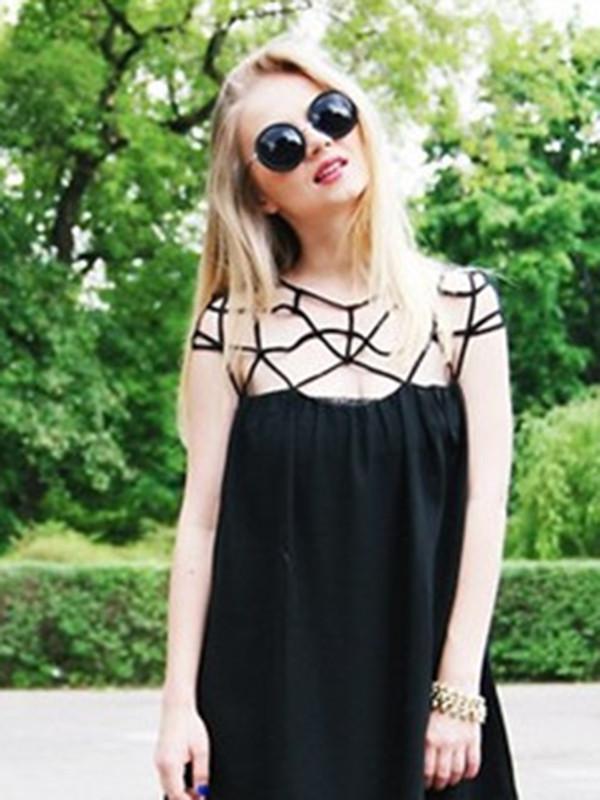 black dress chiffon dress sexy dress summer dress