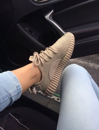 shoes adidas tan brown nude sneakers