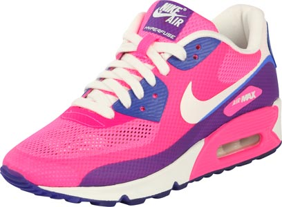wholesale dealer 5c868 9f48f Nike Air Max 90 Hyperfuse Premium W chaussures rose bleu blanc