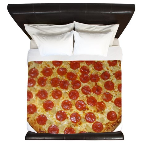 Pizza King Duvet on CafePress.com