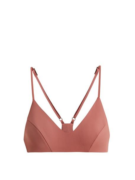 DOS GARDENIAS bikini bikini top pink swimwear