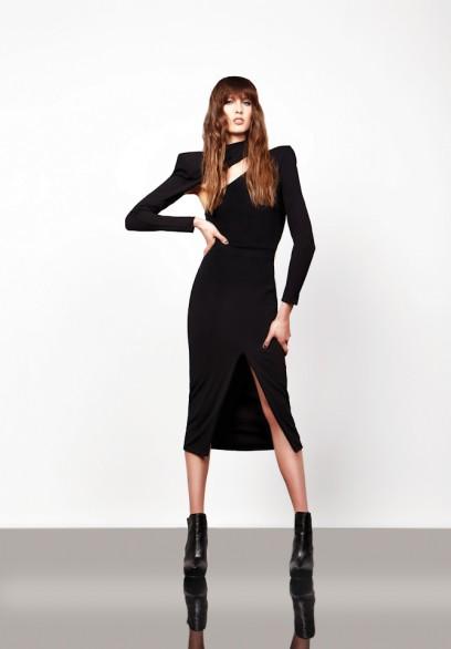 Zhivago Black Double Agent Two Piece Dress