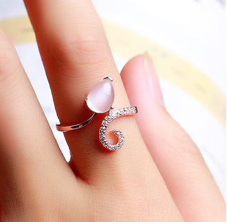 jewels ring stone moonstone finger ring fashion ring accessories