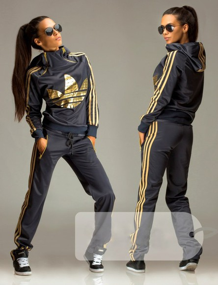 jumpsuit pants hoodie adidas jacket sportswear tracksuit grey gold 3 stripes