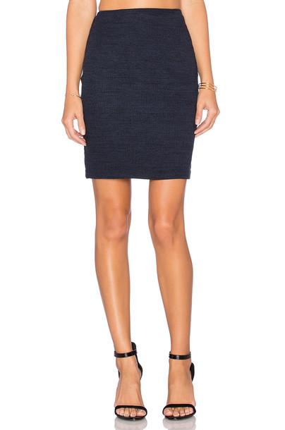 Three Dots skirt mini skirt mini navy