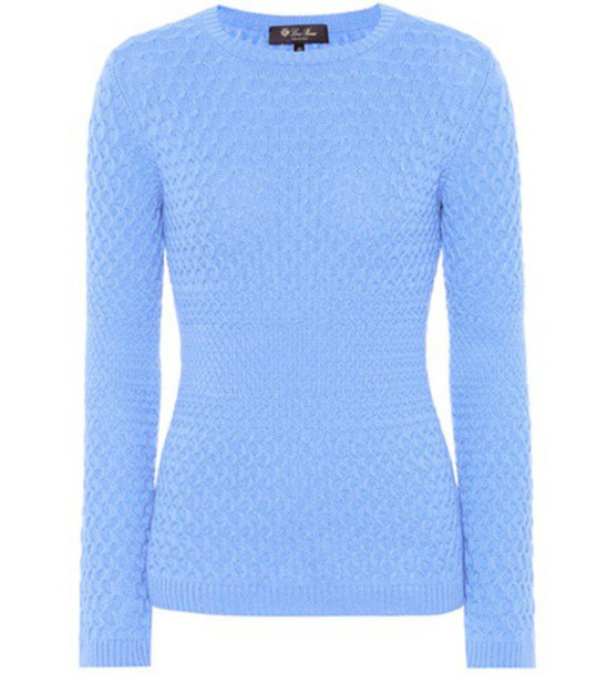 Loro Piana sweater knit blue