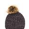 It's on chunky rib knit pom-pom beanie charcoal navy dkrose - gojane.com