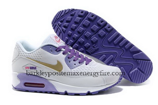 Shop Air Max 90 EM Womens Lovely White Gold-Purple-Blue good selling season