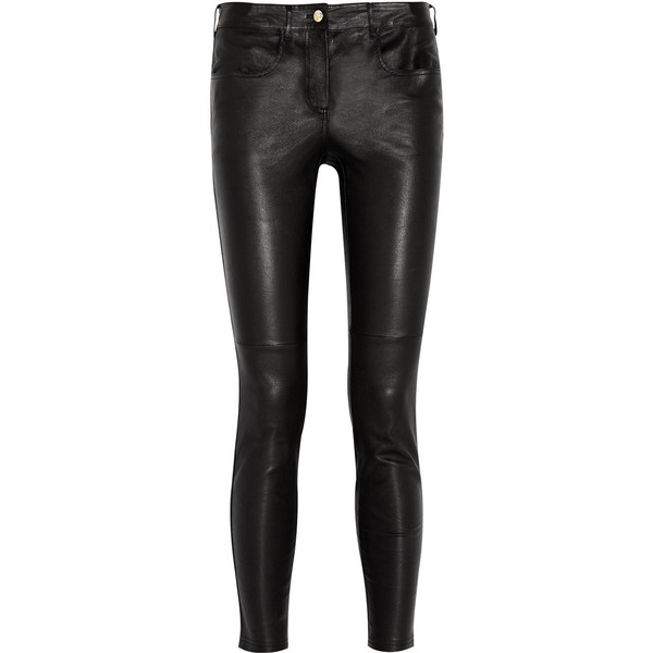 Givenchy Black leather pants - Polyvore