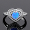 Haimis heart shape blue fire opal cz women claw inay fashion jewelry opal ring size 8 62b-in rings from jewelry & accessories on aliexpress.com | alibaba group