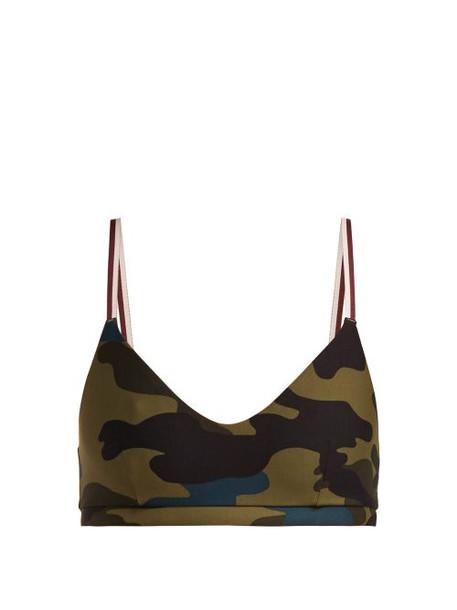 bra sports bra camouflage print underwear