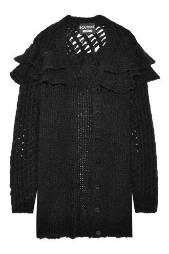 cardigan knitted cardigan oversized black sweater