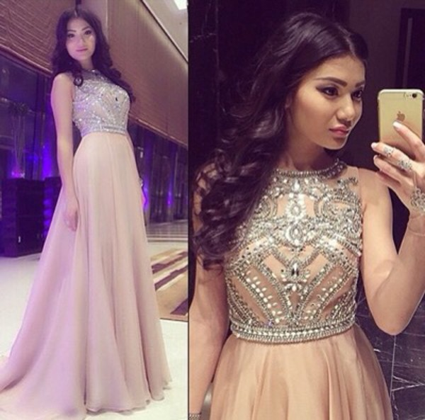 Light Pink Rose Prom Dresses