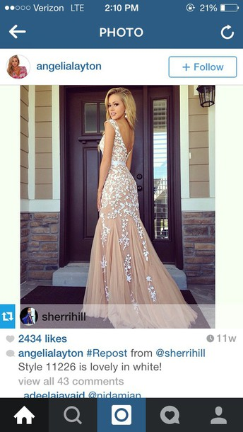 dress sherri hill red dress prom dress white dress lace dress