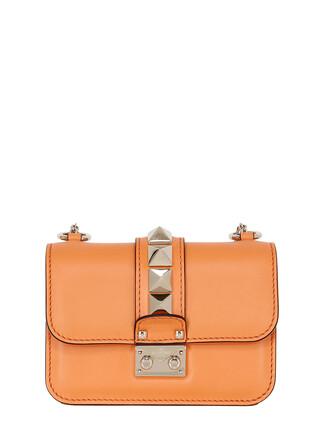 mini bag shoulder bag leather orange
