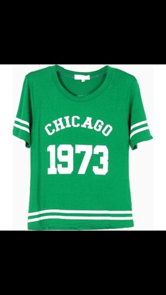 green shirt white t-shirt chicago