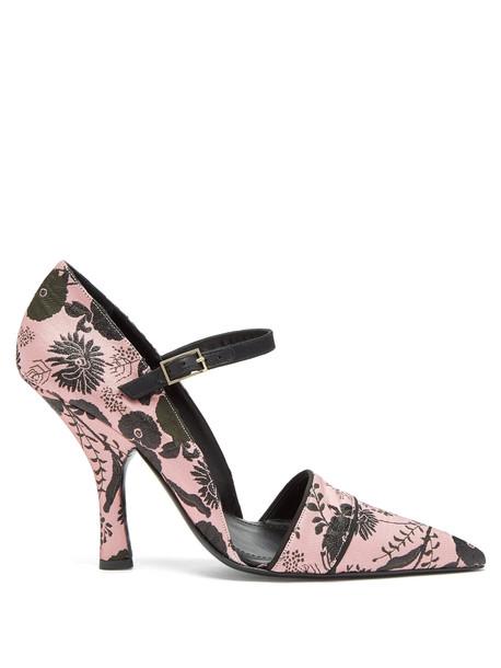 ERDEM Mya Mary-Jane pumps in black / pink