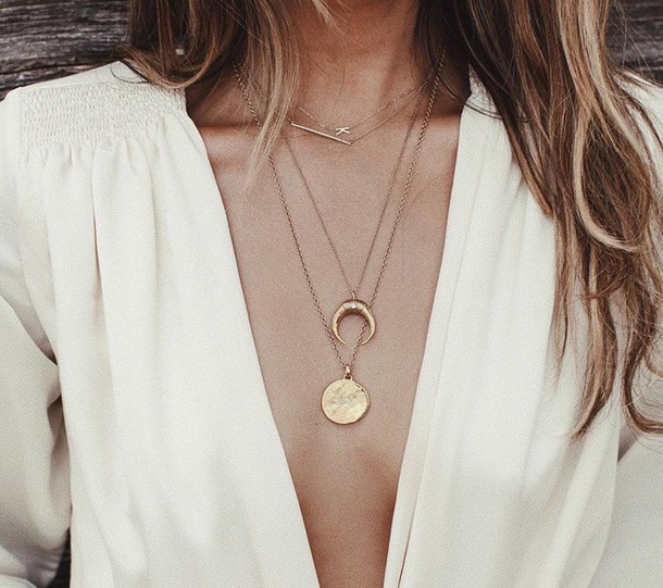 jewels half circle necklace