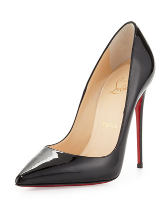Christian Louboutin So Kate Patent Pointed-Toe Red Sole Pump, Black - Neiman Marcus