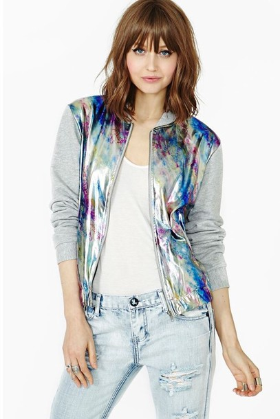 jacket dope style holographic fashion